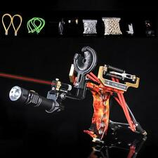 Powerful Pro Hunting Fishing Slingshot Laser Target Catapult Bow Archery Arrows