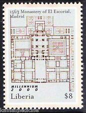 Liberia MNH, Monestary El Escorial, SPAIN, Religion, Maps, World Heritage  - R03