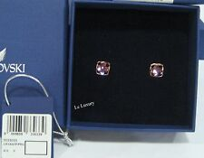 Swarovski Tempo Pierced Earrings, Rose Gold Pvd Metal Crystal MIB - 5033033