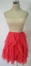 WINDSOR Taupe / Fuchsia Dance Party Dress 7 - $70 NWT