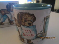 Mug 11oz. My Bark Is Worse Than My Byte (dog holding computer paper)  New in Box