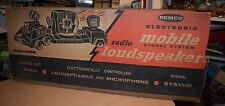 *RARE* VINTAGE 1955 REMCO ELECTRONIC RADIO LOUDSPEAKER Radio Station NEW IN BOX