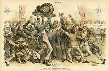 UNCLE SAM'S THANKSGIVING TURKEY SURPLUS CHORUS OF HUNGRY PATRIOTS 1888 UNCLE SAM