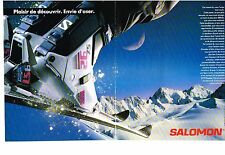 PUBLICITE  1989   SALOMON chaussures de ski  (2 pages)