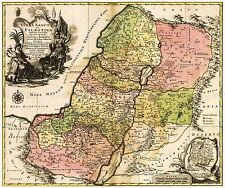 MAP ANTIQUE 1759 LOTTER PALESTINE HISTORIC LARGE REPLICA POSTER PRINT PAM0215