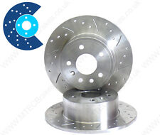 BMW 3 Series E90 320i 05 - 11 DRILLED GROOVED BRAKE DISCS Rear solid