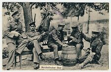 GERMAN SOLDIERS PLAYING MUSIC & SKAT SOLDATEN MIT MANDOLINEN * Vintage WW I PC