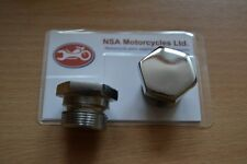 """01-6718 2X AJS MATCHLESS FORK NUTS 1-1/8"""" STANCHIONS G3 G9 G11 16 18 20 30 ETC."""