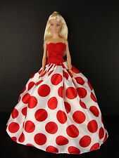 Set of 2 Ball Gowns Called Crazy About Polka Dots Made to Fit Barbie Doll