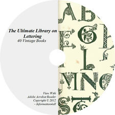 Lettering Letters Monogram Ciphers How to Design Art - 40 Vintage Books on DVD