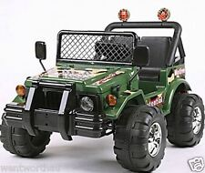 RIDE ON CAR KID TOY 2 SEATER 12V 4WD JEEP TRUCK HUMMER SPORTS - 2 Gearboxes