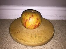 Early Antique Italian Alabaster Stone Fruit Marble Yellow Red Apple Great Patina
