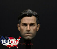 1/6 Ben Affleck Head Sculpt 2.0 Batman Superman Bruce Wayne For Hot Toys Phicen