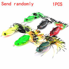 6.35cm 13.81g Hollow Body Frog Rattle Frogs Topwater Soft Fishing Lure Fine