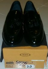 TOD'S MEN'S LEATHER LOAFERS MOCCASINS NEW BLACK