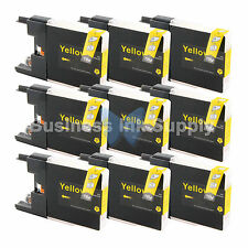 9 YELLOW LC71 LC75 Compatible Ink Cartridge for Brother LC75Y HIGH YIELD LC71Y