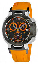 Tissot T0484172705704 T-Sport T-Race Chronograph Date Men's Orange Rubber Watch