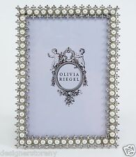 "Olivia Riegel Crystal & Pearl 4x6"" Picture Photo Frame with Swarovski"