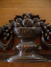 SUPERB DECORATIVE ANTIQUE FRENCH HANDCARVED SWAGS  PEDIMENT  C1889/c1900