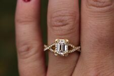 Tacori Dantela Emerald Cut Diamond Engagement Ring -Center Diamond Included!!