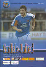 2006/07 CARLISLE UNITED V BOURNEMOUTH League One (Excellent)