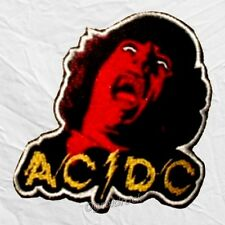 AC/DC Powerage Face Logo Embroidered Patch Album Malcolm Angus Stevie Young