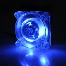 1PCS 40mm 40x40x10mm DC12V 3P LED Transparent Crystal Blue Brushless Cooling Fan