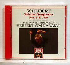 HERBERT VON KARAJAN - SCHUBERT symphonies nos.5 & 8 EMI CD NM