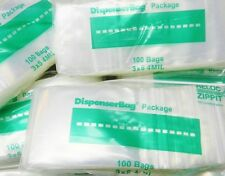 "500 ZIPLOCK 3""x5"" CLEAR 4 MIL POLY BAGS RECLOSABLE ZIP LOCK BAG 4Mil THICK 3x5"