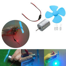 Micro Wind Turbines Generator Mini Motor With Blades LED DIY Kit