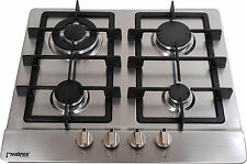 Phonix PS-603 Built-in 60cm Gas hob 4 burner Stainless Steel Cast Iron LPG NEW