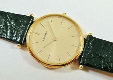 Lassale by Seiko Gold Tone Metal 5E20-8B60 Leather Sample Watch NON-WORKING