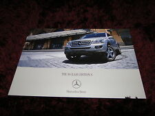Mercedes-Benz M-Class Edition S Brochure 2007 - Limited Edition