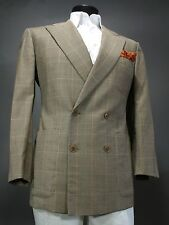 LUCIANO BARBERA Louis Boston Blazer Sport Coat 51 Eu, 40 US, Wool, Check