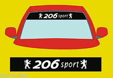206 sport SUNSTRIP  DECALS GRAPHICS STICKER choose any 2 colours from list