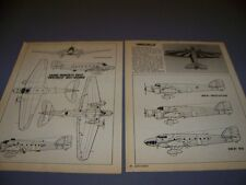 VINTAGE..SAVOIA MARCHETTI SM.81..5-VIEWS/PROFILES..RARE! (220A)