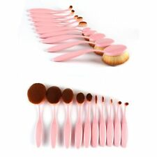 10pcs Beauty Toothbrush Shaped Foundation Power Oval Cream Puff Makeup Brushes