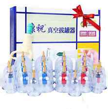 KANGZHU Healthy VACUUM 24 CUPPING cups SLIMMING THERAPY Massage Acupuncture