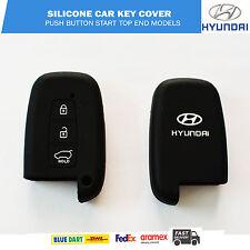 Hyundai Black Silicone Car Key Cover for Top SX Models - Verna, Elantra