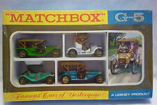 MATCHBOX - GIFT SET - UNOPENED FAMOUS CARS OF YESTERYEAR G-5 VINTAGE (1.MB-1)
