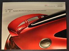 2011 Audi TT Spoiler Sales Brochure Coupe Roadster Excellent Original 11