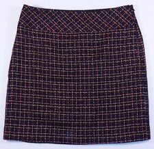 NWT ANN TAYLOR LOFT Thick Soft Tweed Lined Plaid Above Knee Pencil Skirt Size 4