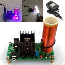 15W DIY Mini Tesla Coil Plasma Speaker Set Electronic Field Music Project Kit DE