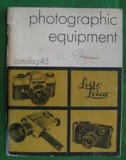 1972 LEITZ LEICA PHOTOGRAPHIC EQUIPMENT CATALOG 45