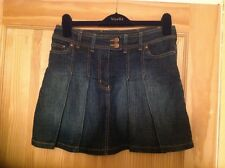 NEXT LADIES BLUE DENIM SHORT SKIRT SIZE 10 PLEATED EXCELLENT CONDITION