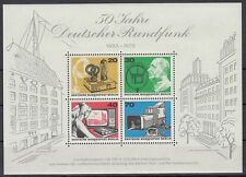 Germany Berlin 1973 ** Bl.4 Rundfunk Radio Lautsprecher Kamera TV Videorecorder