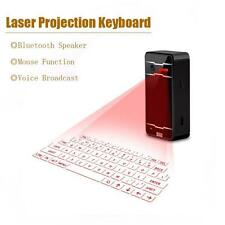 Virtual Laser Projection Keyboard Wireless Bluetooth For Phone Computer Black SP