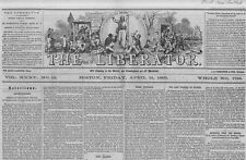 ABRAHAM LINCOLN ASSASSINATED AT FORD'S THEATRE HISTORIC ANTI-SLAVERY NEWSPAPER