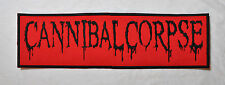 CANNIBAL CORPSE DEATH METAL EMBROIDERED BACK PATCH DISMEMBER UNLEASHED SINISTER
