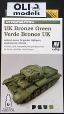 UK Bronze Green AFV Acrylic Paint Set 6 colors - VALLEJO 78407